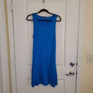 Loft Bright Blue Tank Dress